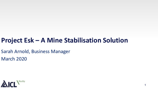 Project Esk: a mine stabilisation solution