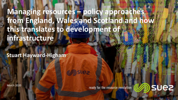 Managing resources – policy approaches from England