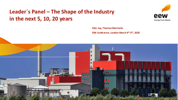 Leader's panel: the shape of the industry in the next 5, 10, 20 years
