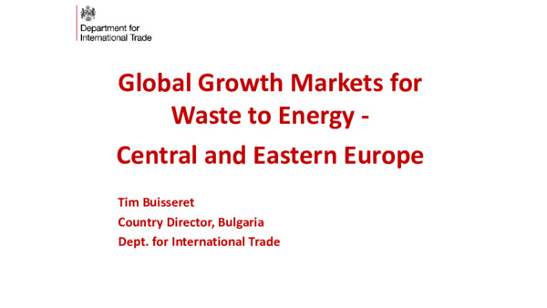 Global growth markets for waste to energy: central and eastern Europe
