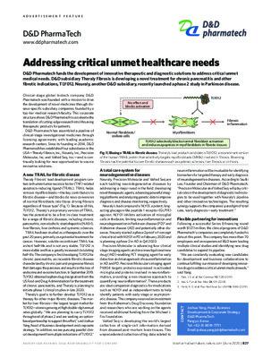 Addressing critical unmet healthcare needs