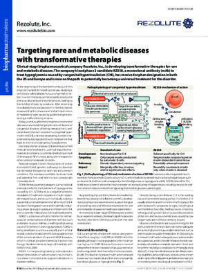 Targeting rare and metabolic diseases with transformative therapies