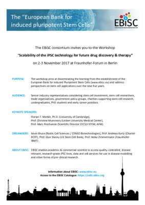 "Register now for ""Scalability of iPSC technology for future drug discovery & therapy"""