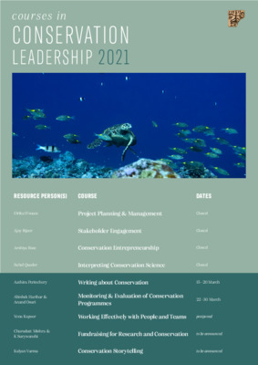 Conservation leadership courses 2021
