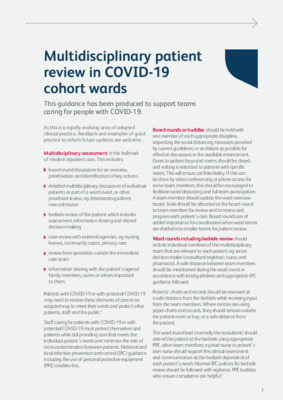New guidance on ward rounds and patient assessment during COVID-19