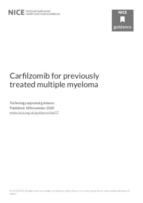Updated recommendations on carfilzomib for previously treated multiple myeloma