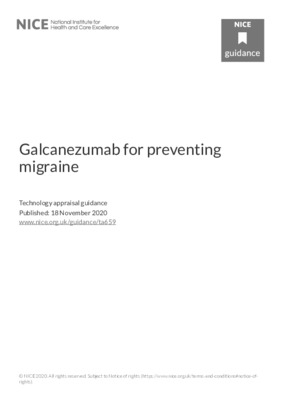 Galcanezumab recommended for migraine prevention in final NICE guidance