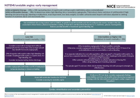 NSTEMI/unstable angina: early management
