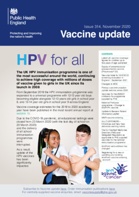 Vaccine update: November issue