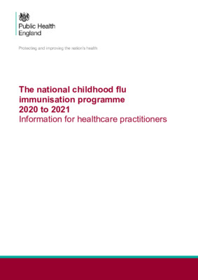 Childhood flu programme: information for healthcare practitioners
