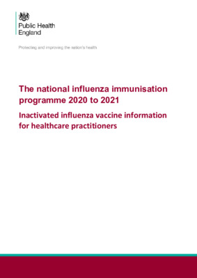 Inactivated influenza vaccine: information for healthcare practitioners