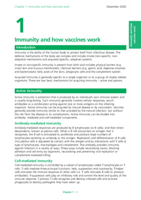 Green book chapter on immunity and how vaccines work updated