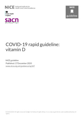 COVID-19 rapid guideline: vitamin D