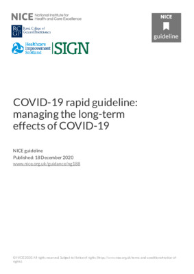 COVID-19 rapid guideline: managing the long-term effects of COVID-19