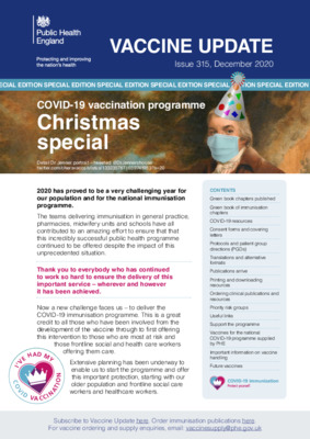 Vaccine update: COVID-19 vaccination programme special edition