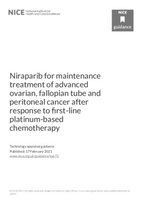 Treatment for advanced ovarian, fallopian tube or peritoneal cancer recommended