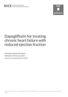 Dapagliflozin recommended for chronic heart failure with reduced ejection fraction