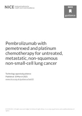 Pembrolizumab in combination recommended for lung cancer