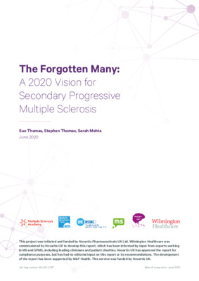 The Forgotten Many: A 2020 Vision for Secondary Progressive Multiple Sclerosis