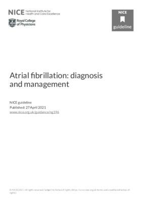 Atrial fibrillation: diagnosis and management