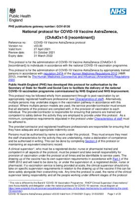 National protocol for COVID-19 Vaccine AstraZeneca (ChAdOx1-S [recombinant]) [v3]