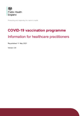 COVID-19 vaccination: information for healthcare practitioners – updated (v3.6)