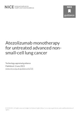 Atezolizumab recommended for non-small-cell lung cancer