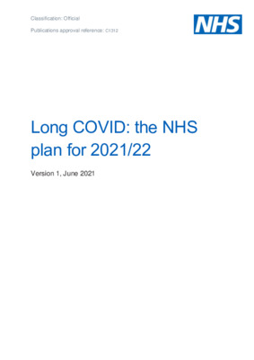 Long COVID: the NHS plan for 2021/22