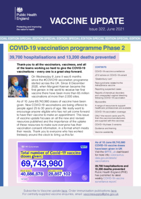 Vaccine update: June COVID-19 phase 2 special edition