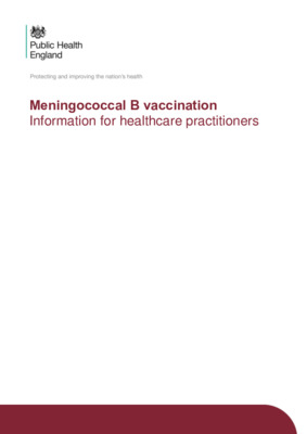 Meningococcal B: vaccine information for healthcare professionals updated