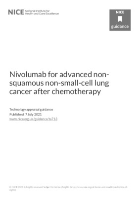 Nivolumab recommended for advanced non-squamous NSCLC after chemotherapy