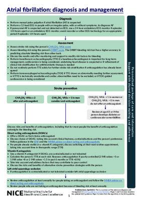 Atrial fibrillation: diagnosis and management algorithm