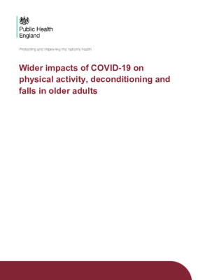 PHE guidance: COVID-19 — wider impacts on people aged 65 and over