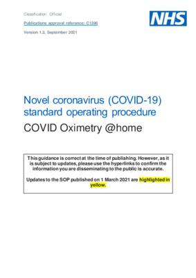 Standard operating procedure: COVID Oximetry @home [v1.2]