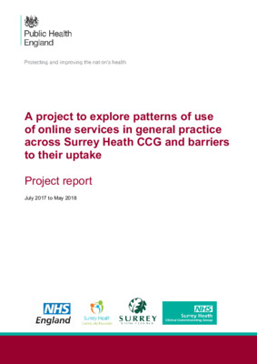 Online services in general practice: patterns of use and barriers to uptake
