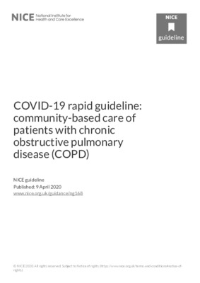COVID-19 rapid guideline: chronic obstructive pulmonary disease