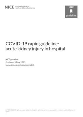 COVID-19 rapid guideline: acute kidney injury in hospital