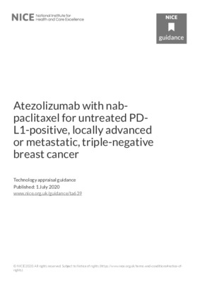 Atezolizumab with nab-paclitaxel recommended for breast cancer