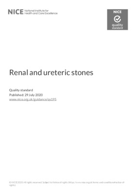 Renal and ureteric stones