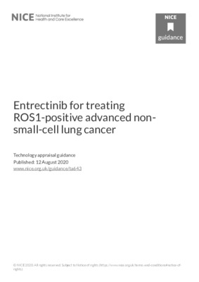 Entrectinib recommended for ROS1-positive advanced non-small-cell lung cancer