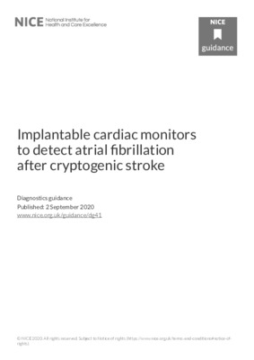 Some implantable cardiac monitors recommended to detect atrial fibrillation after cryptogenic stroke
