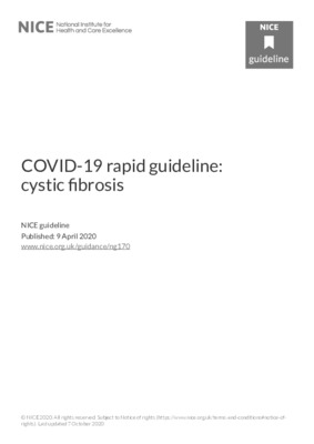 Updated COVID-19 rapid guideline: cystic fibrosis
