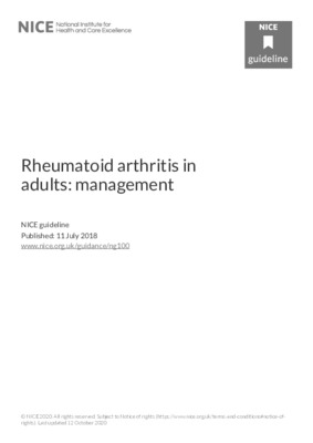 Management of rheumatoid arthritis guidance updated