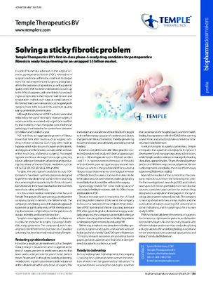 Solving a sticky fibrotic problem