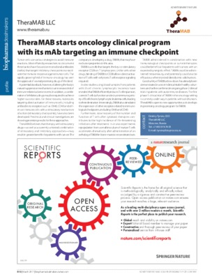 TheraMAB starts oncology clinical program with its mAb targeting an immune checkpoint
