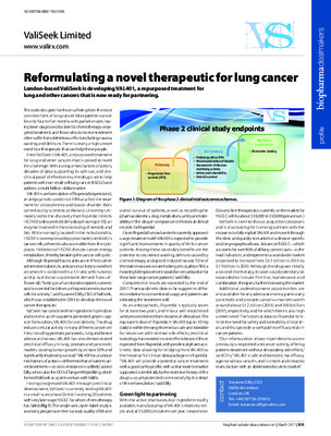 Reformulating a novel therapeutic for lung cancer