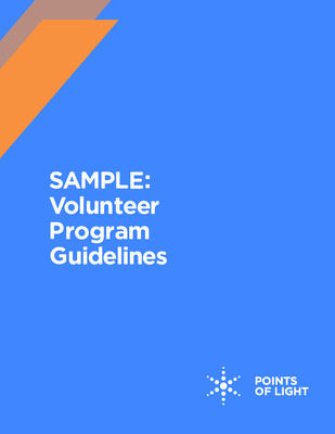 Sample Volunteer Program Guidelines