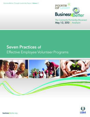 Seven Practices of Effective Employee Volunteer Programs