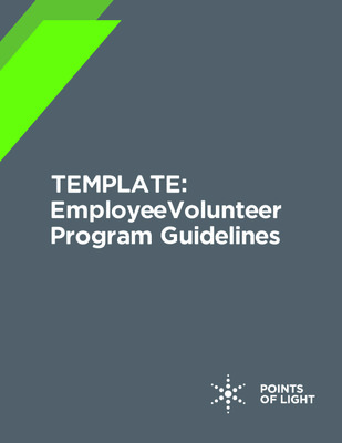 TEMPLATE: Employee Volunteer Program Guidelines