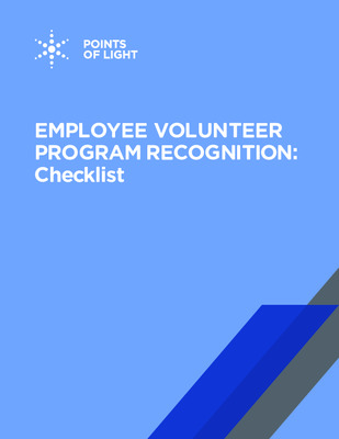 Volunteer Recognition: Checklist